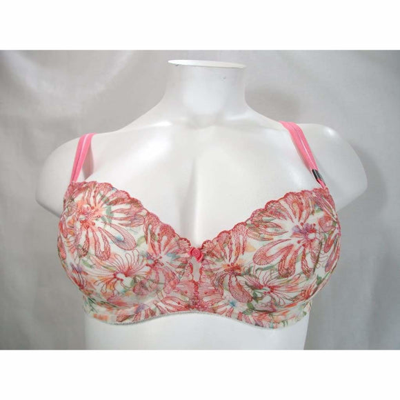 Paramour 115009 Ellie Demi Unlined Semi Sheer Lace Underwire Bra 42H Pink Floral NWT - Better Bath and Beauty