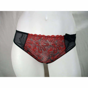 Paramour 675009 by Felina Ellie Hi Cut Bikini Panty LARGE Red Japanese Blossom - Better Bath and Beauty