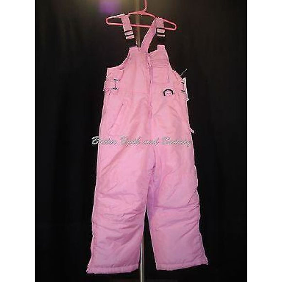 Pink Platinum KIDS GIRLS Water & Wind Resistant Snow Suit Bibs Size 4 Pink NWT - Better Bath and Beauty