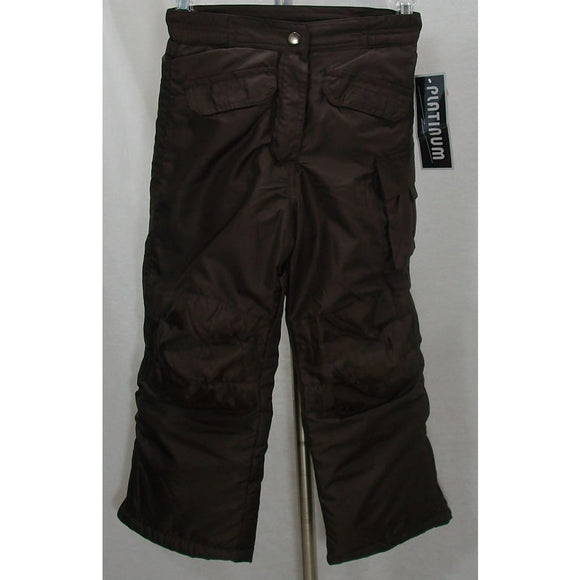 Platinum BOYS Water & Wind Resistant Snow Pants 4 Brown NWT - Better Bath and Beauty