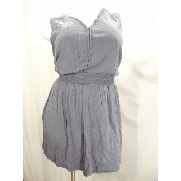 Simply Emma Plus Size V Neck Peasant Dress Size 2x Gray New With Tags