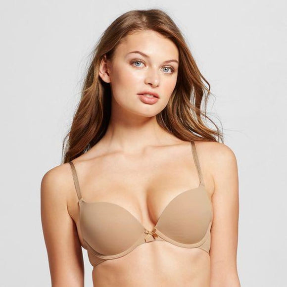 Xhilaration T-Shirt Convertible Push-Up Convertible Underwire Bra 32AA Honey Beige - Better Bath and Beauty