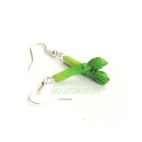 Green ASPARAGUS EARRINGS, Gift for Vegetarians and Vegans, Food Jewelry