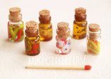 miniature dollhouse bottles set