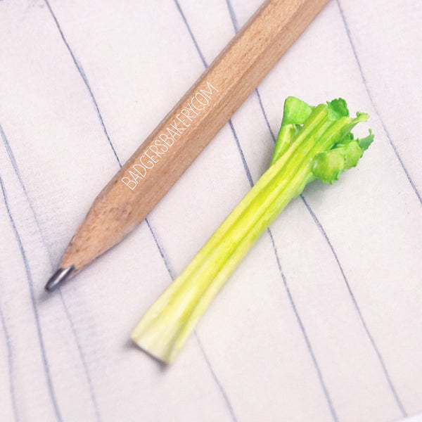 miniature celery in 1/6 scale