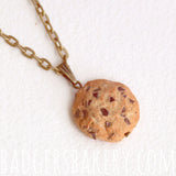chocolate chip cookie pendant - without bite