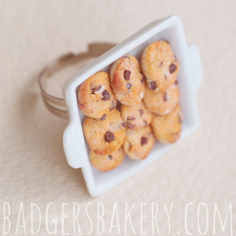 mini chocolate chip cookie tray ring