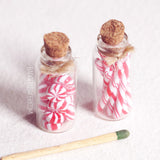peppermint candy miniature jars