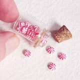 peppermint candy miniature jar