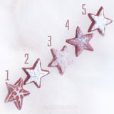 Gingerbread STAR COOKIE Earrings, CHRISTMAS Studs, Cute Miniature Food Jewelry