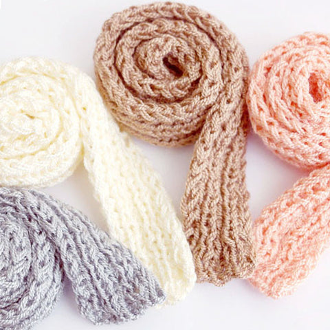 Knitted BJD Doll SCARVES for msd, sd, American Girl, 50cm (20'') long