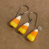 Candy Corn Earrings and Charm