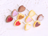 tiny heart shaped cookie studs