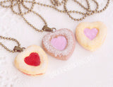 Linzer cookie necklace