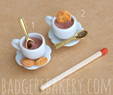 miniature hot chocolate cups