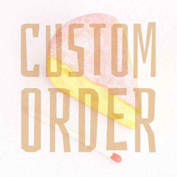 Custom order RESERVED for L. S., dragonfruit cocktails, spoons