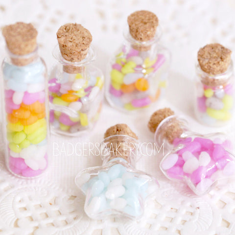 miniature jelly bean bottles