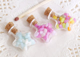 star shaped miniature jelly bean bottles