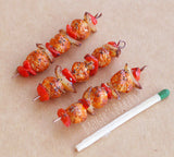 1/6 scale chicken kabob