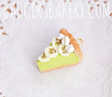 key lime pie charm with banana slices
