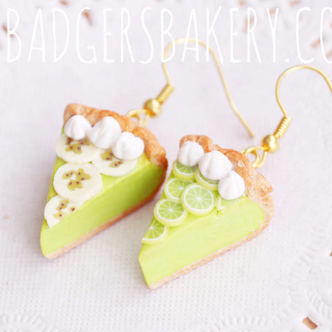 key lime pie earrings