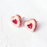 Linzer cookie studs