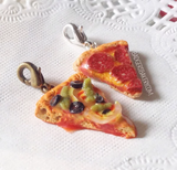 Miniature Pizza CHARM / PENDANT, Choose Your Flavor, Miniature Food Jewelry