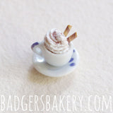 patterned white miniature cup