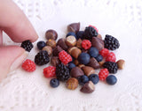 miniature nuts and berries
