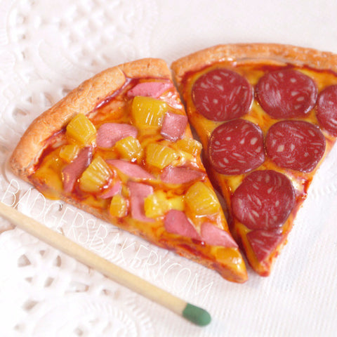 miniature pizza slices - hawaiian, pepperoni