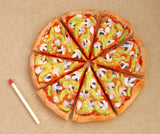 miniature pizza slices - vegetarian