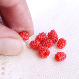 miniature raspberries 1/4 scale