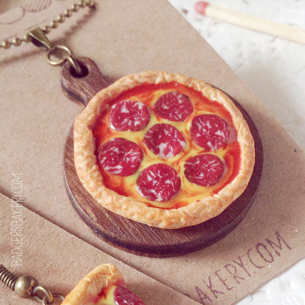 pepperoni pizza pendant