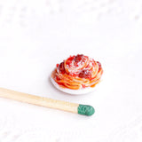miniature spaghetti plate, 1/12 dollhouse scale