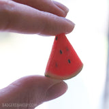 miniature watermelon slice prop