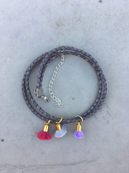 Double Choker in Pink/Purple