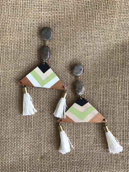 Tribal Tassels in Green