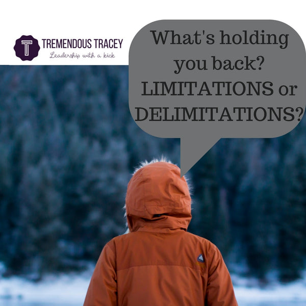 Limitations or DElimitations? What's Holding You Back?