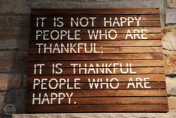 The Privilege of Learning to be Thankful