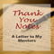 Thank You Notes: A Letter to My Mentors