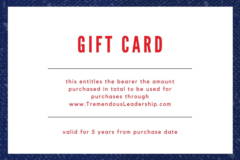 Tremendous Leadership Virtual Gift Card