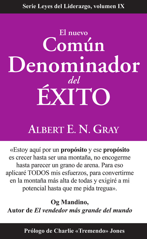 (SPANISH) New Common Denominator of Success: Laws of Leadership, Volume IX