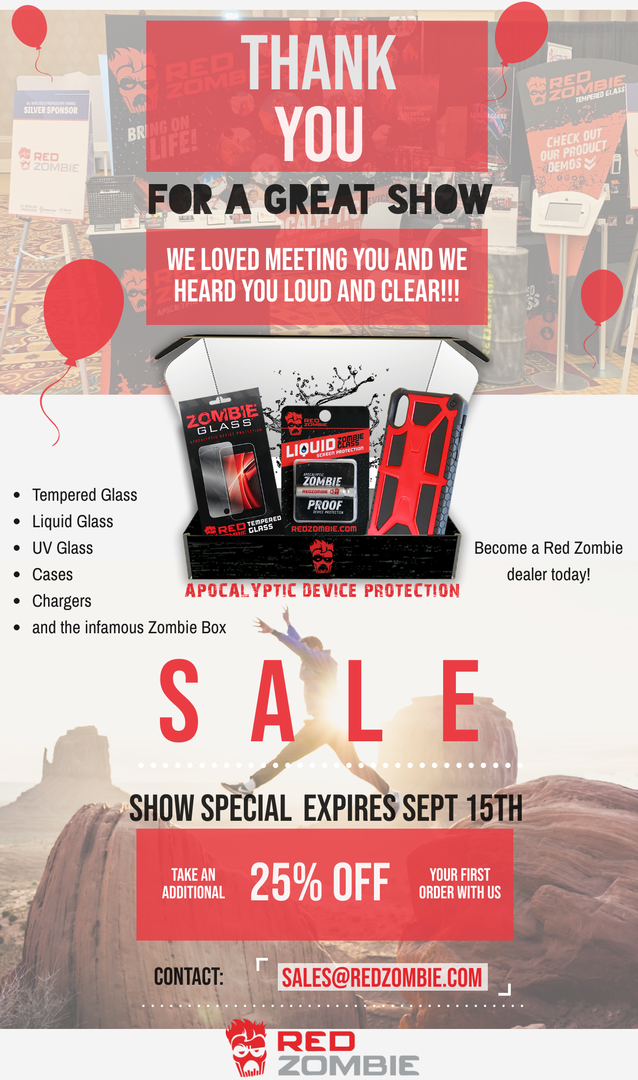 All Wireless & Prepaid Expo Red Zombie Show Special