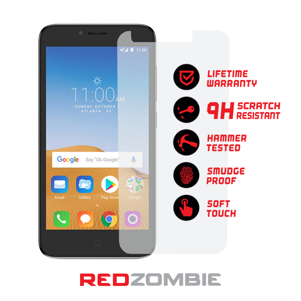 Alcatel Tempered Glass - Red Zombie