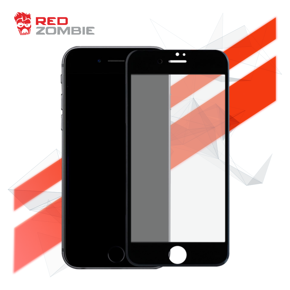 new concept 420a3 2a85d Apple iPhone 8 - Black Cover - Full Coverage - Full Adhesive - Premium  Glass Screen Protector