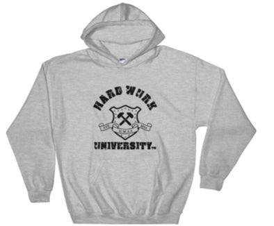 Mens Hard Wurk Univ. Heavy Dry-Blend Hoodie (Rear Logo)