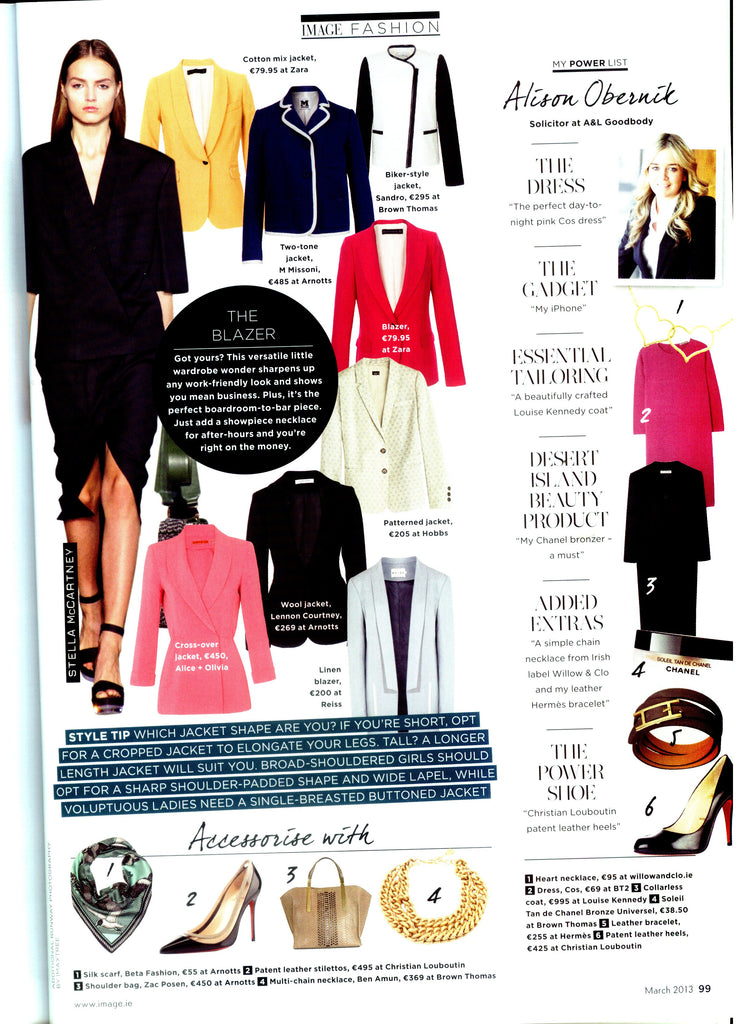 Willow & Clo Hearts collection featured on Alison Obernik's Power List in Image magazine