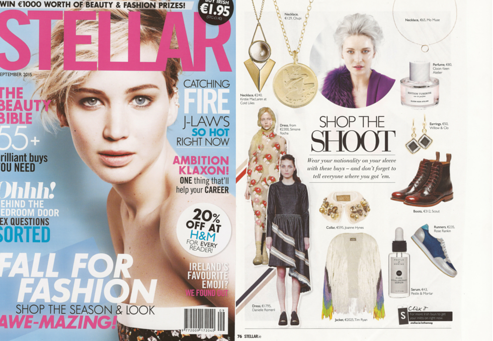 Willow & Clo featured in Stellar September Issue