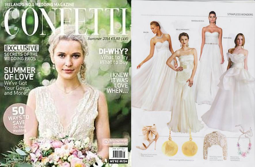 Willow & Clo Soundwaves collection featured in Confetti magazine