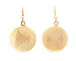 22kt Gold Disc Earrings